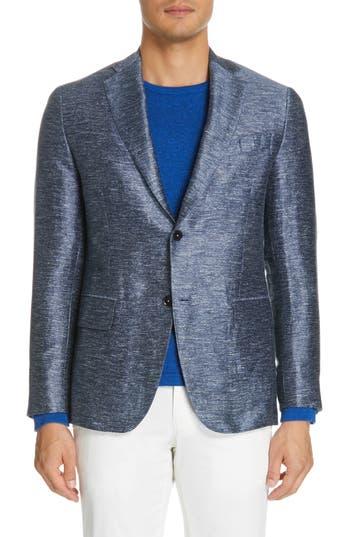 Eidos Balthazar Trim Fit Solid Linen Blend Sport Coat
