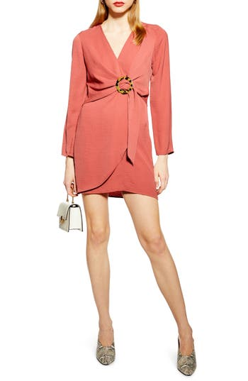 Topshop Tortoise Ring Minidress
