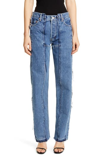 Vetements Runway Reconstructed Straight Leg Jeans
