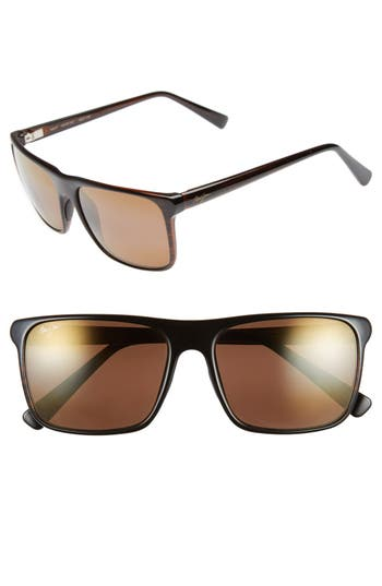Maui Jim Flat Island 5m Polarizedplus Sunglasses - Brown Stripe/ Hcl Bronze