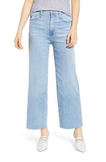 AG Etta High Waist Crop Wide Leg Jeans (Blue Oasis)