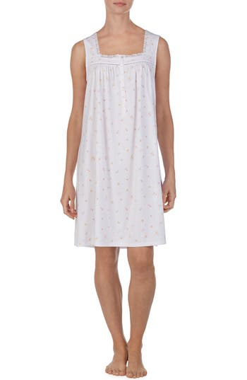 Eileen West Square Neck Sleeveless Nightgown