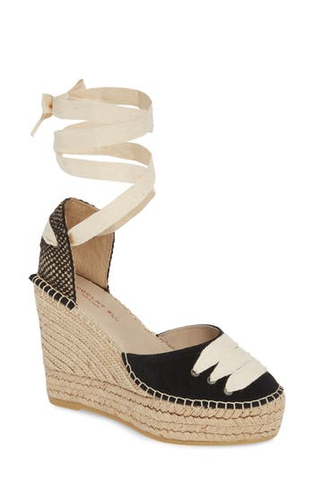 Chocolat Blu Alma Ankle Wrap Wedge Espadrille (Women)