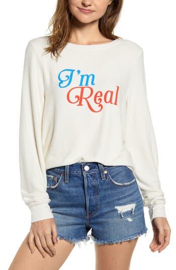 Wildfox I'm Real Baggy Beach Jumper Sweatshirt
