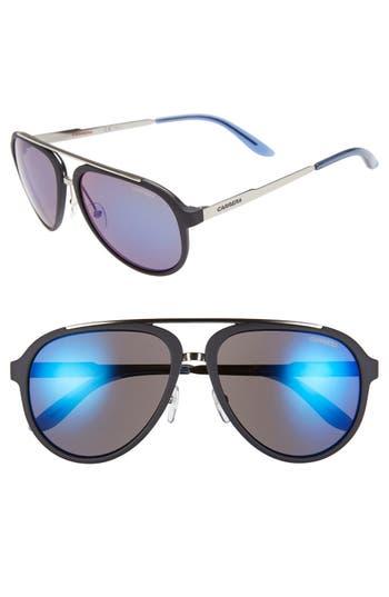 Carrera Eyewear 5m Aviator Sunglasses - Dark Blue/ Blue Mirror
