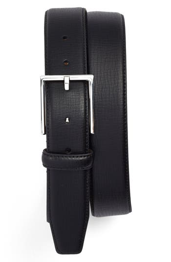 Big & Tall Nordstrom Shop Leather Belt, Black
