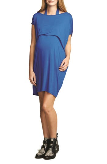 The Urban Ma Halter Maternity Dress, Blue