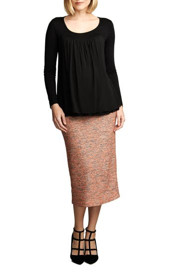 Maternal America Belly Support Maternity Pencil Skirt