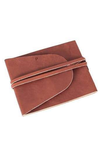 Cathy's Concepts Monogram Leather Guest Book - Brown