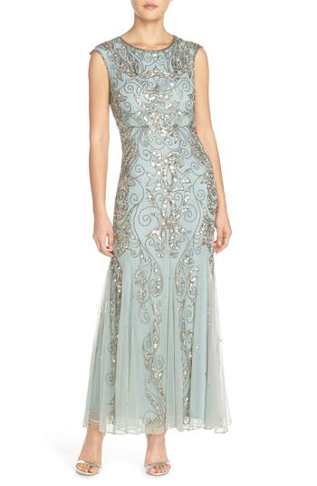 Pisarro Nights Mermaid Gown, Green