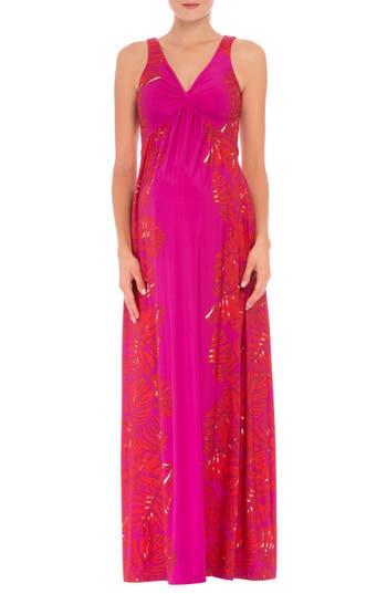 Women's Olian 'Scarlet' Sleeveless Maternity Maxi Dress