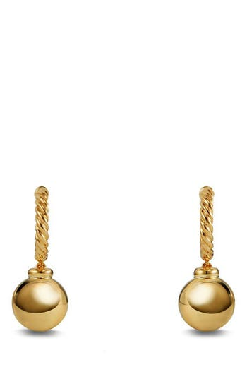 David Yurman 'Solari' Hoop Earrings in 18K Gold