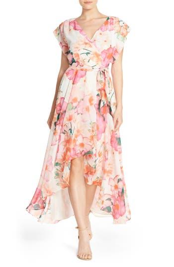 Eliza J Floral Print Gown