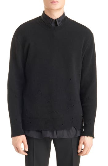 Men's Givenchy Destroyed Wool Sweater