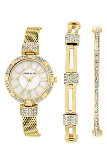 Women's Anne Klein Watch & Bangle Set, 28Mm