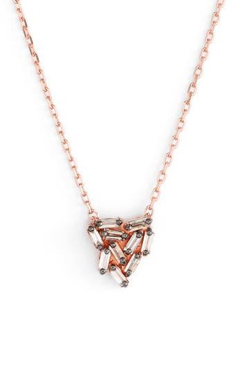Women's Suzanne Kalan 'Fireworks' Diamond Baguette Mini Triangle Pendant Necklace