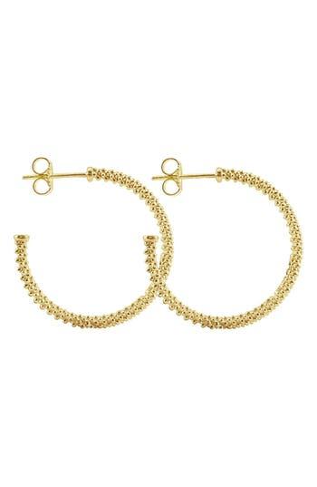 Women's Lagos 'Caviar Gold' Hoop Earrings
