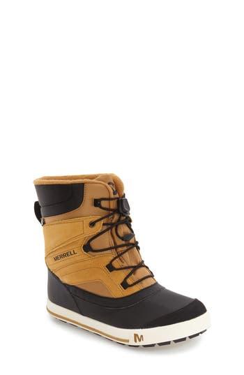 Kids Merrell Snow Bank 2 Waterproof Boot Size 4 M  Brown
