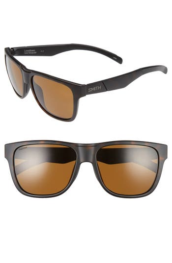 Men's Smith 'Lowdown' 56Mm Polarized Sunglasses - Matte Tortoise