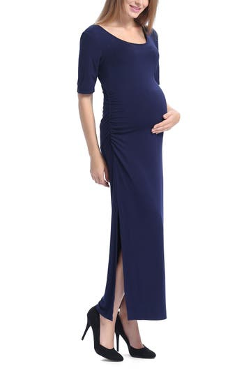 Kimi And Kai Isla Maternity Maxi Dress, Blue