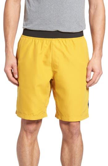 Men's Prana 'Mojo' Quick Dry Shorts, Size Medium - Yellow