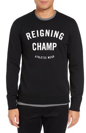 Reigning Champ Gym Logo Crewneck T-Shirt, Black