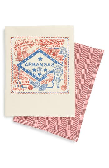 Primitives By Kathy Set Of 2 State Dish Towels, Size One Size - Red