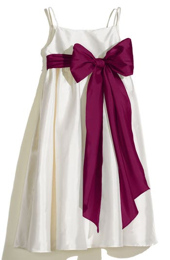 Girl's Us Angels A-Line Dress With Sash, Size 4 - Ivory