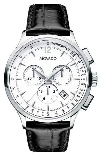 Movado 'Circa' Round Chronograph Watch, 42Mm