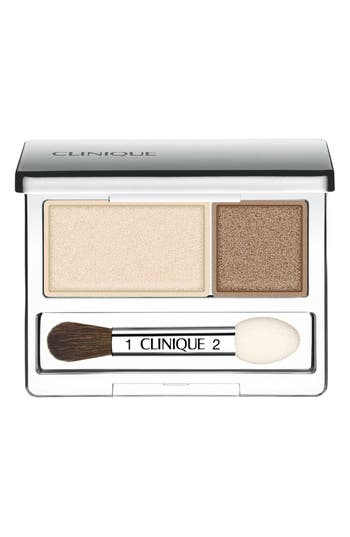 Clinique 'All About Shadow' Eyeshadow Duo - Ivory Bisque/ Bronze Satin