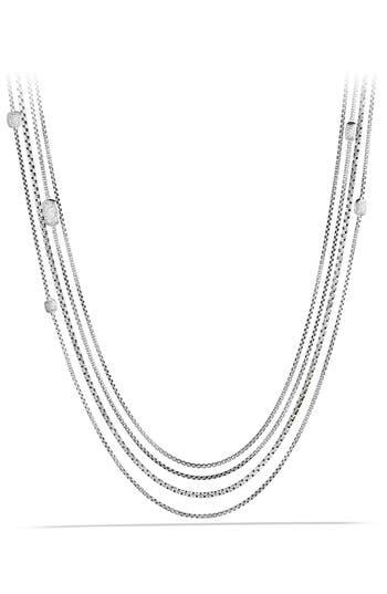 Women's David Yurman 'Confetti' Station Necklace With Diamonds
