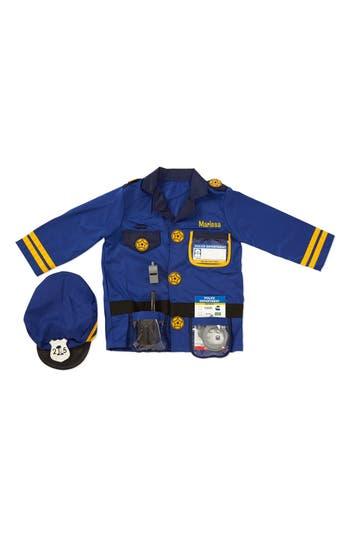 Toddler Melissa  Doug Personalized Police Officer Costume Set
