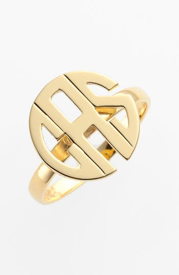 Women's Jane Basch Designs Personalized Monogram Ring