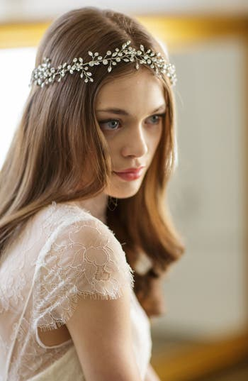 Brides & Hairpins Bianca Crystal Halo & Sash
