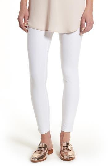 Hue Essential Denim Leggings, White