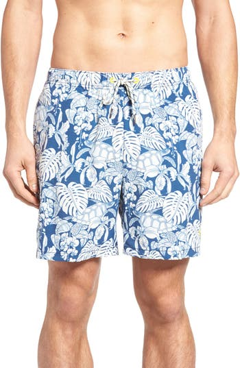 Big & Tall Tommy Bahama Naples Turtle Cove Swim Trunks - Blue