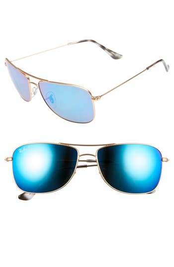 Ray-Ban 5m Polarized Aviator Sunglasses -