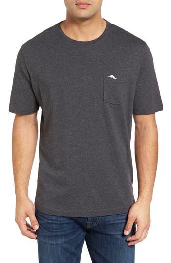 Big & Tall Tommy Bahama New Bali Sky Pima Cotton Pocket T-Shirt, Black