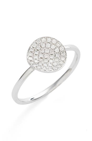 Women's Bony Levy Aurelia Small Diamond Concave Ring (Nordstrom Exclusive)