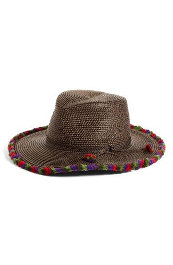 Women's Eric Javits Frida Packable Squishee Fedora - Brown at NORDSTROM.com