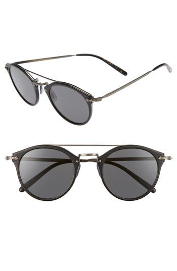 Oliver Peoples Remick 50Mm Brow Bar Sunglasses - Black