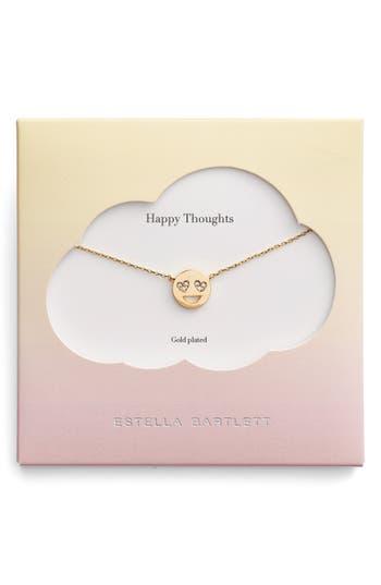 Women's Estella Bartlett Happy Thoughts Emoji Necklace