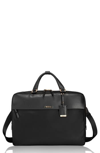 Tumi Westport Slim Nylon & Leather Briefcase -