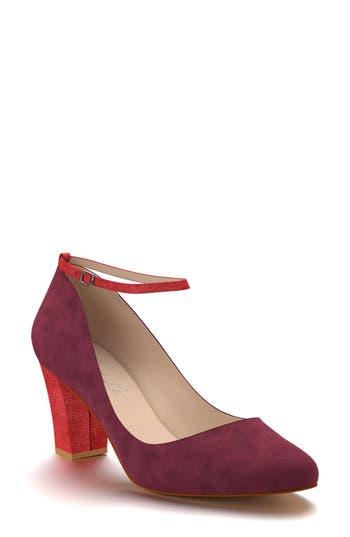 Shoes Of Prey Block Heel Pump - Burgundy