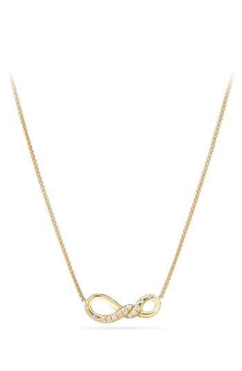 Women's David Yurman Continuance Pendant Necklace In 18K Gold With Diamonds