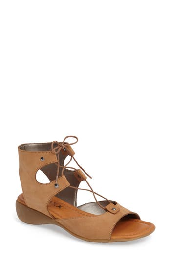 The Flexx Lace-Up Gladiator Sandal- Brown