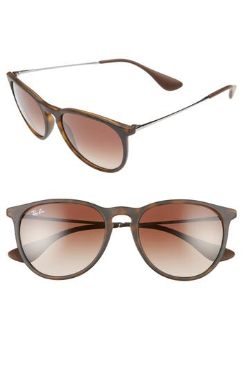 Women's Ray-Ban Erika Classic 54Mm Sunglasses - Black/ Grey Gradient