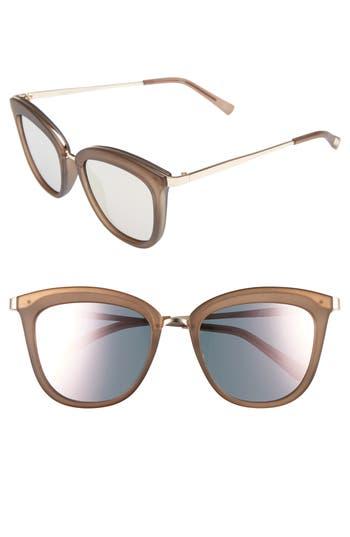 Le Specs Caliente 5m Cat Eye Sunglasses - Matte Mocha