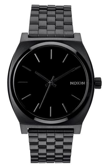 Nixon 'The Time Teller' Stainless Steel Bracelet Watch, 37mm
