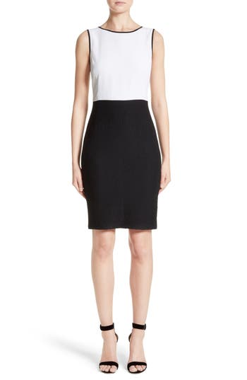 St. John Collection Cady Bodice Clair Knit Dress